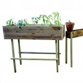 A raised planter is a great solution for an easy garden.